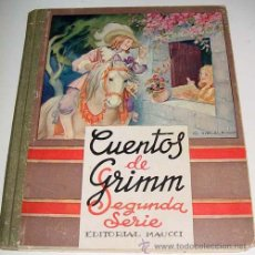 Libros antiguos: CUENTOS DE GRIMM. 2ª SERIE - GRIMM, HERMAN - CUENTOS Y LEYENDAS. MAUCCI ED. ILUSTRACIONES EN B/N EN . Lote 38243854