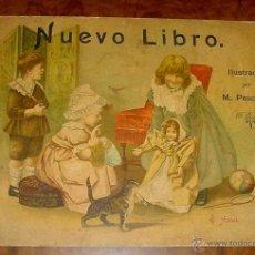 Libros antiguos: ANTIGUO CUENTO - NUEVO LIBRO, ILUSTRADO POR M. PESCHLOW - FINALES SIGLO XIX - PRECIOSO - 12 PAGINAS . Lote 38245297