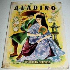 Libros antiguos: ANTIGUO CUENTO ALADINO - CON 3 DIORAMAS ILUSTRACIONES SORPRESA - POP UP CHILDREN BOOKS - CUENTO JUGU. Lote 38249788