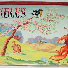 Libros antiguos: ANTIGUO CUENTO POP UP CHILDREN BOOK - FABLES - CUENTO JUGUETE O SORPRESA - ILUSTRACIONES DE GILDAS -. Lote 38249885
