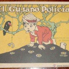 Libros antiguos: ANTIGUO CUENTO EL GUSANO POLICIA - EDITORIAL CALLEJA - MUY ILUSTRADO - MIDE 16,5 X 12 CM - AÑOS 30. Lote 38254760