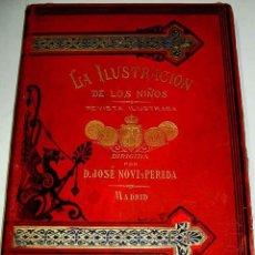 Libros antiguos: LA ILUSTRACION DE LOS NIÑOS 1880. REVISTA ILUSTRADA DIRIGIDA POR D. JOSE NOVI Y PEREDA - MADRID - RE. Lote 38255529
