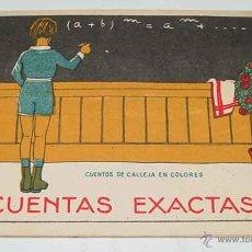 Libros antiguos: CUENTAS EXACTAS - ED. SATURNINO CALLEJA, CUENTOS DE CALLEJA EN COLORES . ILUSTRACIONES DE PENAGOS - . Lote 38255539