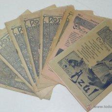 Libros antiguos: LOTE DE 11 REVISTAS ROSA Y AZUL - REVISTA PARA NIÑOS - NUMERO EXTRAORDINARIO - REVISTA SEMANAL ILUST. Lote 38283619