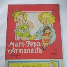 Libros antiguos: ANTIGUO CUENTO MARI PEPA Y ARMANDITA - EMILIA COTARELO - ILUS. MARIA CLARET - COMPLETO CON SU SUPLEM. Lote 40331955