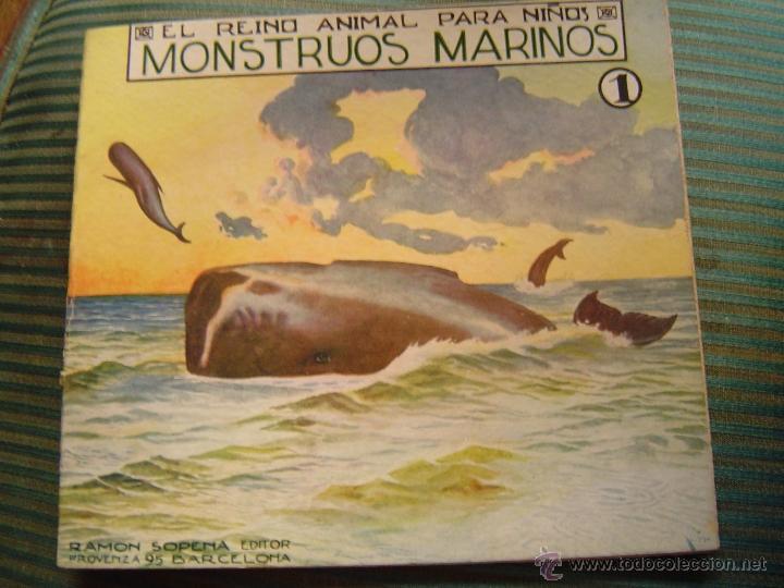 EL REINO ANIMAL PARA NIÑOS.- MONSTRUOS MARINOS Nº 1 (Libros Antiguos, Raros y Curiosos - Literatura Infantil y Juvenil - Cuentos)
