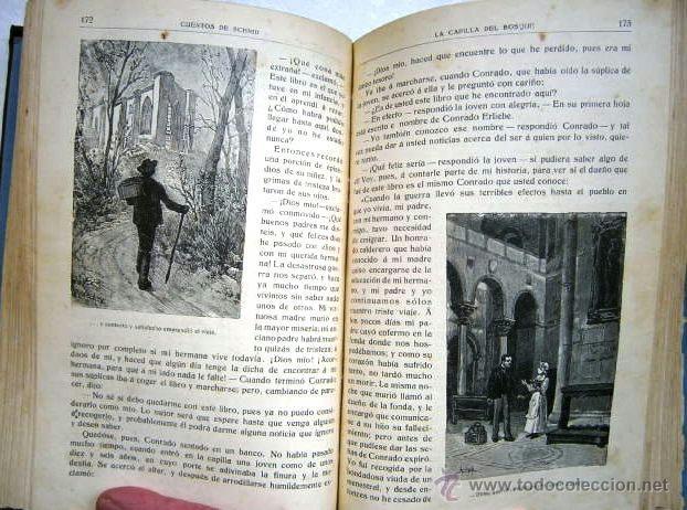 Libros antiguos: Cuentos escogidos por Cristóbal Schmid de Ed. Saturnino Calleja en Madrid s/f (1910) 16ª Edición - Foto 4 - 41076555