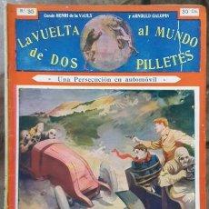 Libros antiguos: LA VUELTA AL MUNDO DE DOS PILLETES # 35 VAULX & GALOPIN - SOPENA BARCELONA 32 PAG BUEN ESTADO. Lote 182497835