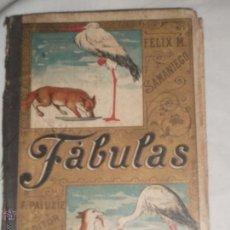 Libros antiguos: LIBRO DE FABULAS EN VERSO 1924 POR FELIX SAMANIEGO. Lote 41625129