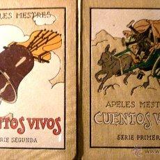 Alte Bücher - APELES MESTRES . CUENTOS VIVOS . 2 Libros serie primera y segunda. COMPLETA . 1918 - 42464081