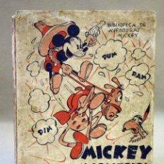 Libros antiguos: ANTIGUO LIBRO, MICKEY Y LOS INDIOS Y MICKEY CABALLISTA, VOLUMEN 3, EDITORIAL ALAS, 1935. Lote 42591733