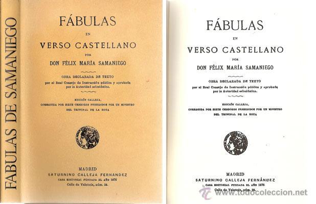 FÁBULAS EN VERSO CASTELLANO – AÑO 1876 (Libros Antiguos, Raros y Curiosos - Literatura Infantil y Juvenil - Cuentos)