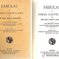 Libros antiguos: FÁBULAS EN VERSO CASTELLANO – AÑO 1876. Lote 42612522
