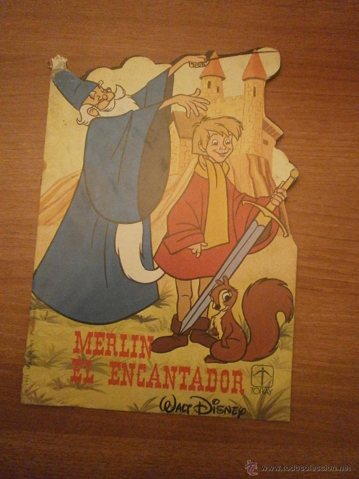 CUENTO TROQUELADO- MERLIN EL ENCANTADOR - WALT DISNEY- TORAY (Libros Antiguos, Raros y Curiosos - Literatura Infantil y Juvenil - Cuentos)