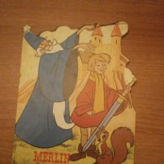 Libros antiguos: CUENTO TROQUELADO- MERLIN EL ENCANTADOR - WALT DISNEY- TORAY. Lote 43742447