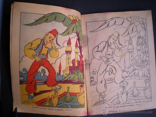 Libros antiguos: L108 - LA ALFOMBRA MÁGICA - ANTIGUO CUENTO PARA PINTAR - EDITORIAL CASTALIA - ILUSTRACIONES DE RIBAS - Foto 2 - 44653014