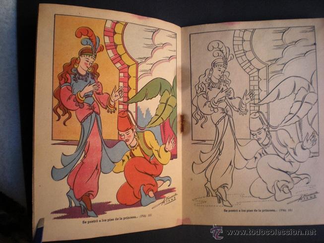 Libros antiguos: L108 - LA ALFOMBRA MÁGICA - ANTIGUO CUENTO PARA PINTAR - EDITORIAL CASTALIA - ILUSTRACIONES DE RIBAS - Foto 3 - 44653014
