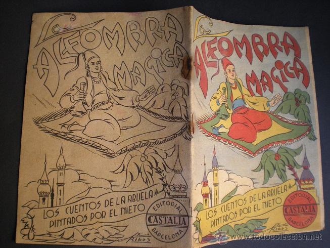 Libros antiguos: L108 - LA ALFOMBRA MÁGICA - ANTIGUO CUENTO PARA PINTAR - EDITORIAL CASTALIA - ILUSTRACIONES DE RIBAS - Foto 7 - 44653014
