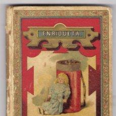 Libros antiguos: MUSEO DE LA INFANCIA, COLECCION DE CUENTOS MORALES, ENRIQUETA. Lote 44706855