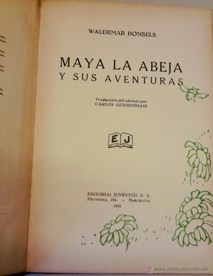 Libros antiguos: ANTIGUO CUENTO INFANTIL-MAYA LA ABEJA- AÑO 1935, DEL CUAL SE BASO LA SERIE TELEVISIVA,LA ABEJA MAYA - Foto 2 - 44971168