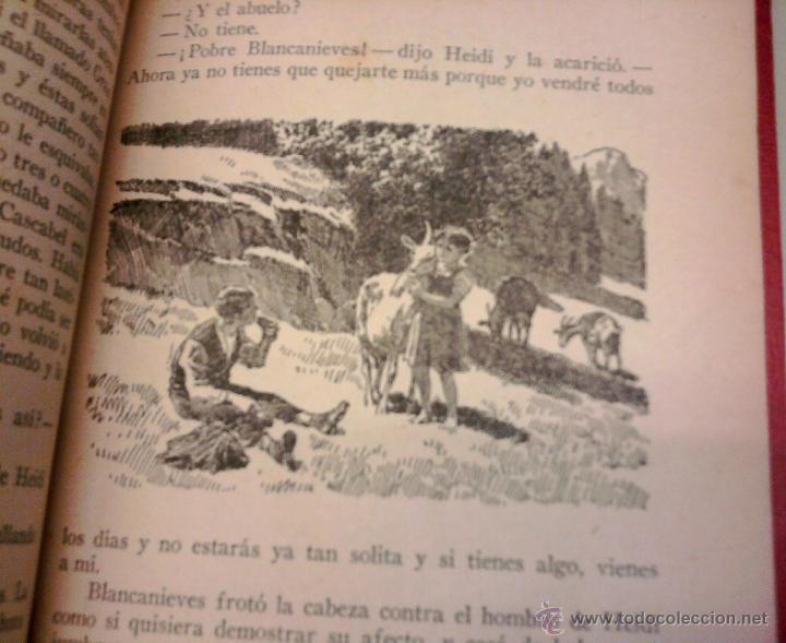 Libros antiguos: ANTIGUO CUENTO INFANTIL-HEIDI-AÑO 1935, DEL CUAL SE BASO LA SERIE TELEVISIVA,HEIDI,PEDRO Y ABUELO - Foto 2 - 44971359
