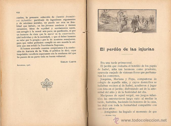 Libros antiguos: CUENTOS DRAMÁTICOS INFANTILES – AÑO 1908 - Foto 3 - 41091182