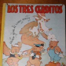Libros antiguos: LOS TRES CERDITOS CUENTO E ILUSTRACIONES POR WALT DISNEY 1935. Lote 46517073