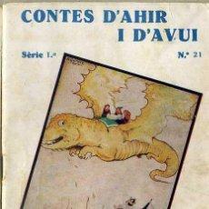 Libros antiguos: ANDERSEN : LA GATA BLANCA (CONTES D'AHIR I D'AVUI, 1935) ILUSTRA SÁNCHEZ TENA . EN CATALÁN. Lote 47239214