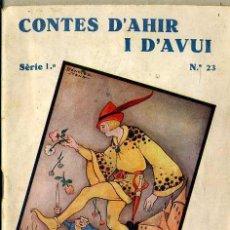 Libros antiguos: ANDERSEN : LEANDRE, EL PRÍNCEP GNOM (CONTES D'AHIR I D'AVUI, 1935) ILUSTRA SÁNCHEZ TENA . EN CATALÁN. Lote 47239236