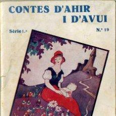 Libros antiguos: ANDERSEN : PRINCESA GRACIOSA / RIQUET (CONTES D'AHIR I D'AVUI, 1935) ILUSTRA SÁNCHEZ TENA . CATALÁN. Lote 47239260