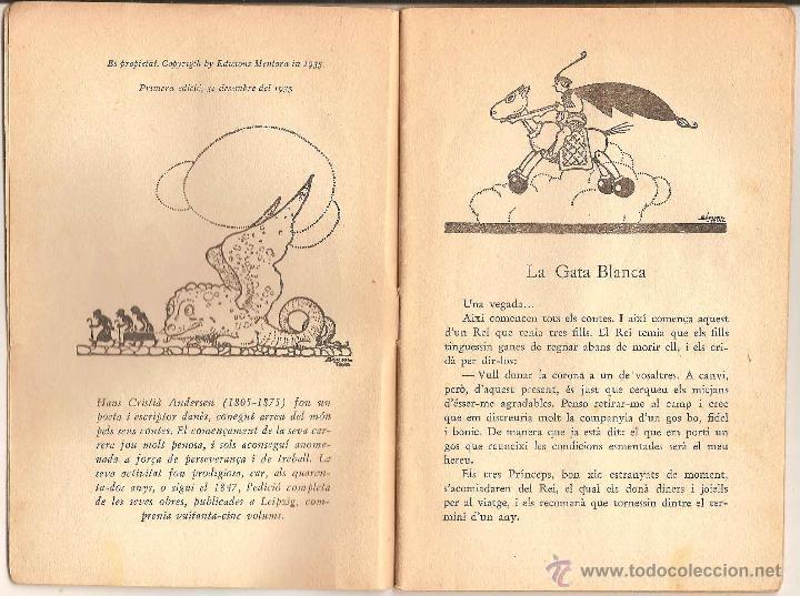 Libros antiguos: LA GATA BLANCA – HANS CRISTIÀ ANDERSEN - CONTES DAHIR I DAVUI - 1935 - Foto 2 - 47422592