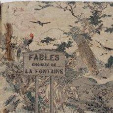 Libros antiguos: EDICIÓN LIMITADA FÁBULAS DE LA FONTAINE EDITADO EN TELA. TOKIO 1894. EXCELENTES DIBUJOS FIRMADOS. Lote 47426007