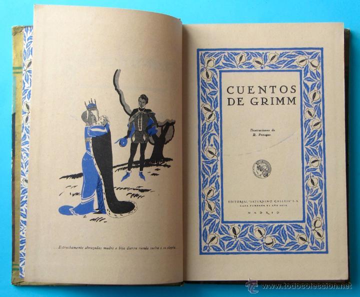 Libros antiguos: CUENTOS DE GRIMM. BIBLIOTECA PERLA. PENAGOS. CALLEJA, 1935 - Foto 6 - 47489269