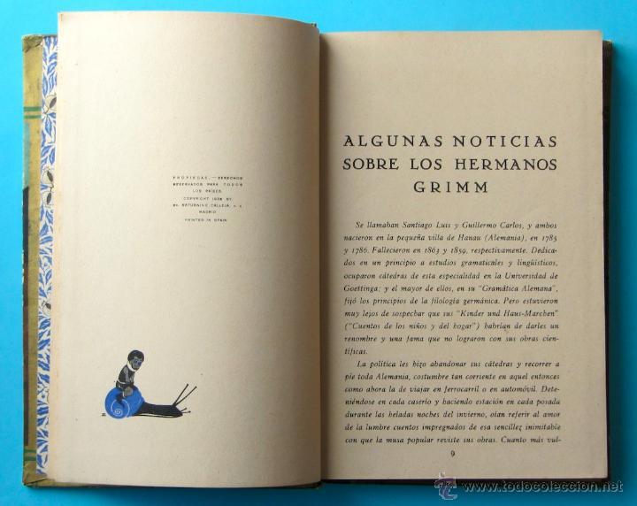 Libros antiguos: CUENTOS DE GRIMM. BIBLIOTECA PERLA. PENAGOS. CALLEJA, 1935 - Foto 7 - 47489269