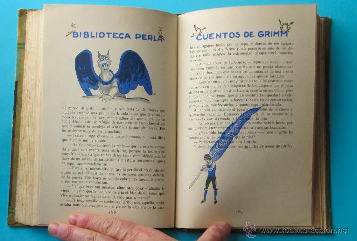 Libros antiguos: CUENTOS DE GRIMM. BIBLIOTECA PERLA. PENAGOS. CALLEJA, 1935 - Foto 9 - 47489269