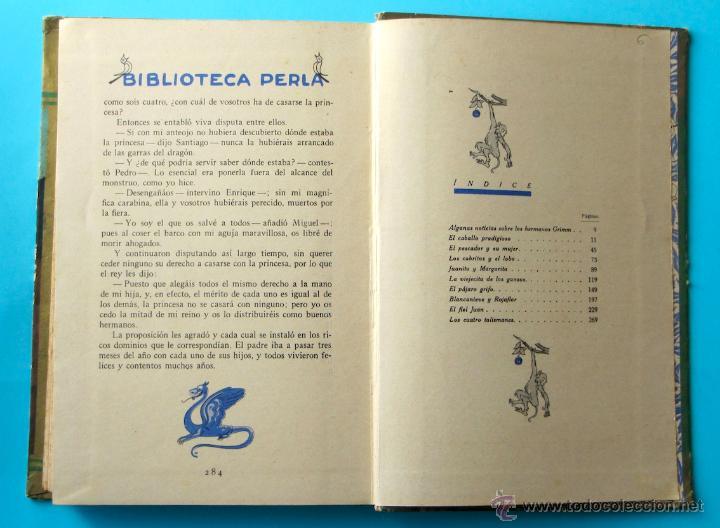 Libros antiguos: CUENTOS DE GRIMM. BIBLIOTECA PERLA. PENAGOS. CALLEJA, 1935 - Foto 10 - 47489269