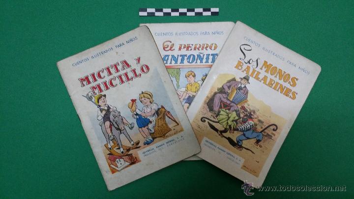 3 CUENTOS ILUSTRADOS PARA NIÑOS, EDITORIAL RAMON SOPENA. (Libros Antiguos, Raros y Curiosos - Literatura Infantil y Juvenil - Cuentos)