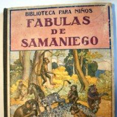 Libros antiguos - FABULAS DE SAMANIEGO. BIBLIOTECA PARA NIÑOS. EDITOR RAMON SOPENA. - 91699234