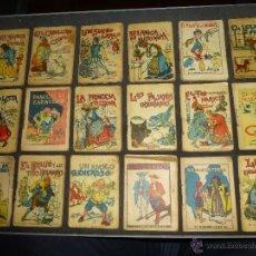 Libros antiguos: LOTE DE 18 CUENTECITOS DE SATURNINO CALLEJA, JUGUETES INSTRUCTIVOS, 7 X 6 CM.. Lote 47889565