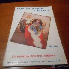 Libros antiguos: COM NOU CONTES D´AHIR I D´AVUI 1933. Lote 48208314