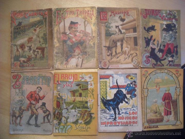 11 CUENTOS DE SATURNINO CALLEJA. MINICUENTOS (1900'). SE VENDEN TODOS O POR UNIDADES (Libros Antiguos, Raros y Curiosos - Literatura Infantil y Juvenil - Cuentos)