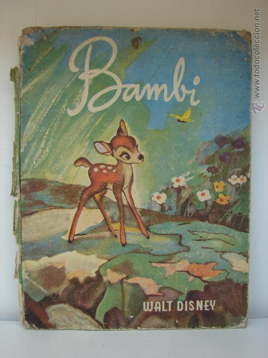 BAMBI. WALT DISNEI. 1945 (Libros Antiguos, Raros y Curiosos - Literatura Infantil y Juvenil - Cuentos)
