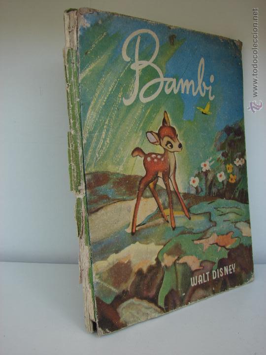 Libros antiguos: BAMBI. WALT DISNEI. 1945 - Foto 2 - 48860239