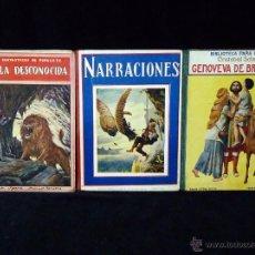 Libros antiguos: LOTE DE 3 CUENTOS DE LA COLECCIÓN BIBLIOTECA PARA NIÑOS DE RAMÓN SOPENA. AÑOS 20. Lote 48913546