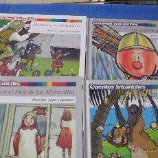 Libros antiguos: PACK 4 CUENTOS INFANTILES PARA LEER, JUGAR Y APRENDER EL PAIS. Lote 49247220