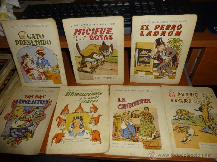 LOTE DE 7 CUENTOS ILUSTRADOS PARA NIÑOS, EDITORIAL RAMON SOPENA (Libros Antiguos, Raros y Curiosos - Literatura Infantil y Juvenil - Cuentos)