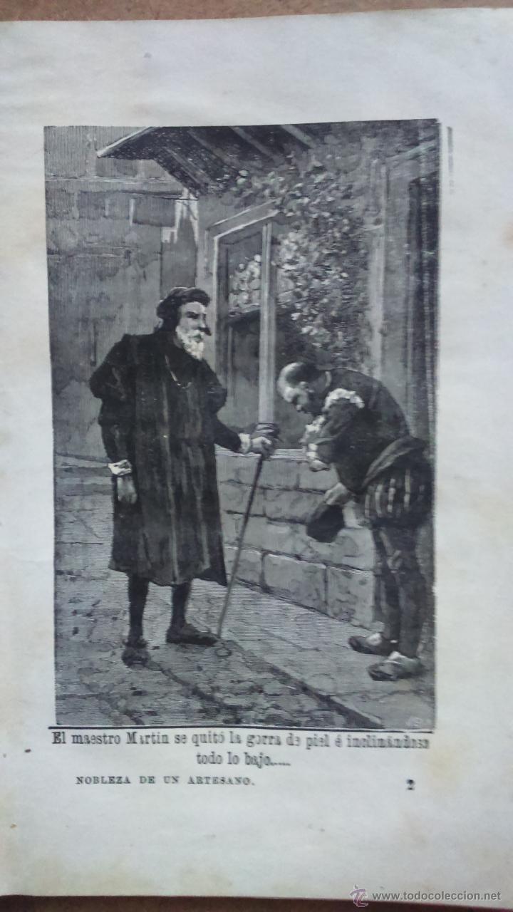 Libros antiguos: De los cuentos de Calleja, nobleza de un artesano, cuentos morales ilustrado Alfredo Perea 1893 - Foto 2 - 49591979