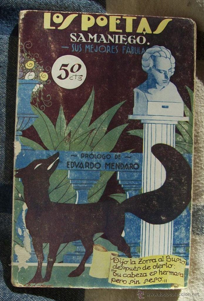 SAMANIEGO, SUS MEJORES FÁBULAS - LOS POETAS - EDITA GRÁFICA UNIÓN, 1929 (Libros Antiguos, Raros y Curiosos - Literatura Infantil y Juvenil - Cuentos)