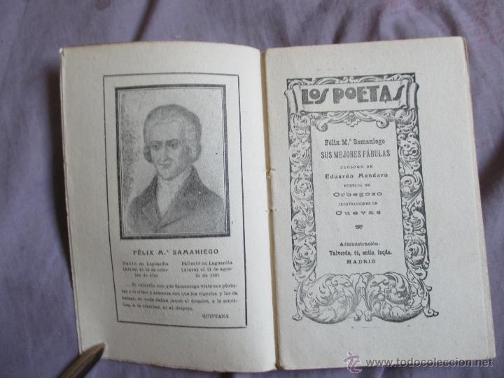 Libros antiguos: Samaniego, sus mejores fábulas - Los poetas - Edita Gráfica Unión, 1929 - Foto 2 - 49768067