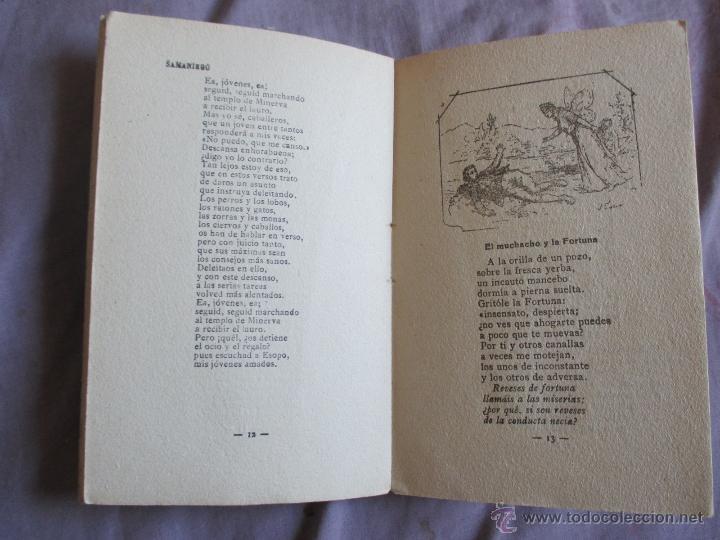 Libros antiguos: Samaniego, sus mejores fábulas - Los poetas - Edita Gráfica Unión, 1929 - Foto 4 - 49768067